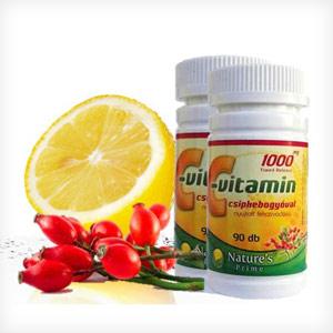 6 havi C-vitamin csipkebogyóval 1000mg